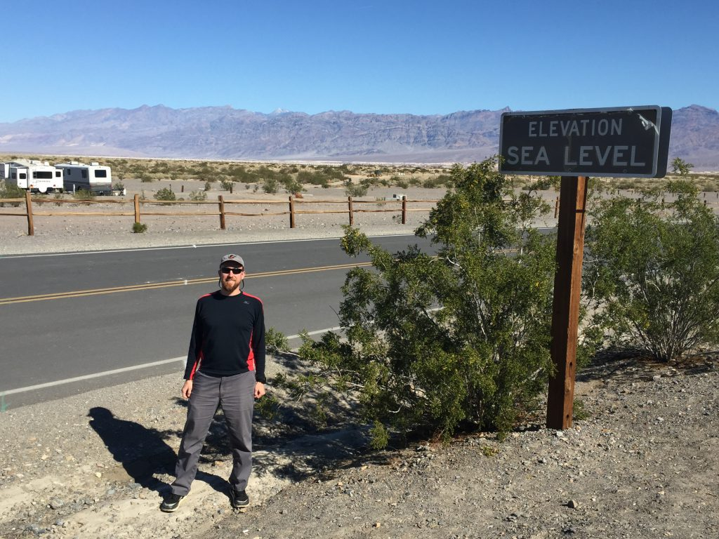 Death Valley National Park - Stovepipe Wells - Elevation Sea Level